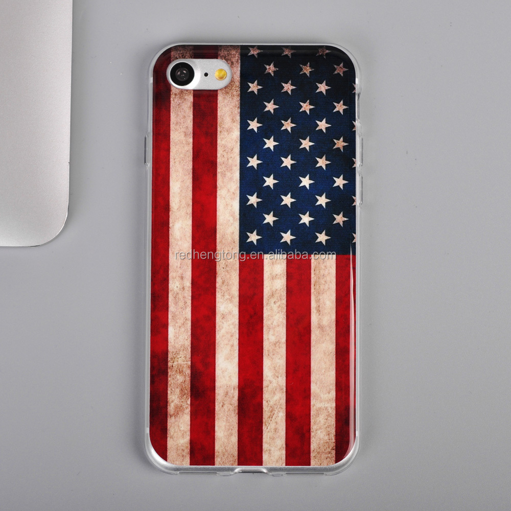 For iphone 7 American England Flag Soft Gel TPU Phone Case wholesale