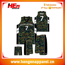 China Manufacturer Best Selling Cheap Youth Camo Basketball Jerseys with Full Printing