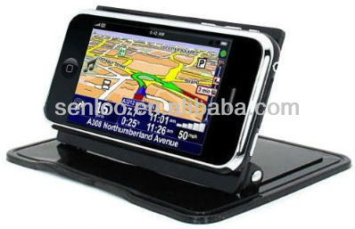 2013 The Best Quality PU Gel 360 Degree Swivel Car Mount Phone Holder