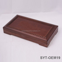 Promotional wood gift tea box, hinged wooden boxes