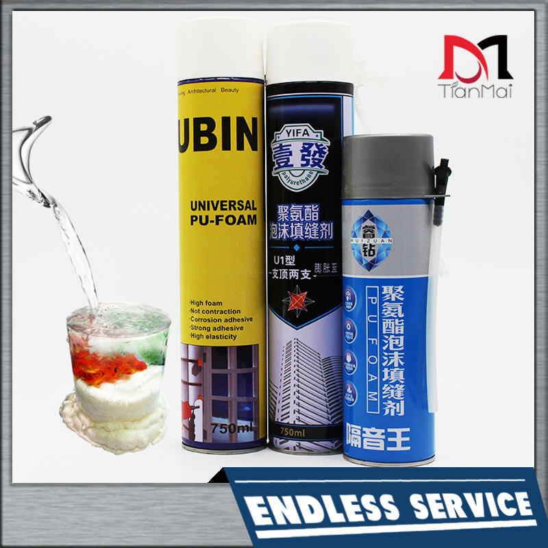 HOT SALE High quality Expanding Spray Pu foam sealant for construction joints