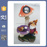 Customized polyresin elf figurine led garden solar light