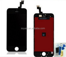 No dead pixel!! 1PCS Black and White Color LCD Display + Touch Screen Digitizer + Frame LCD Assembly For iPhone 5C