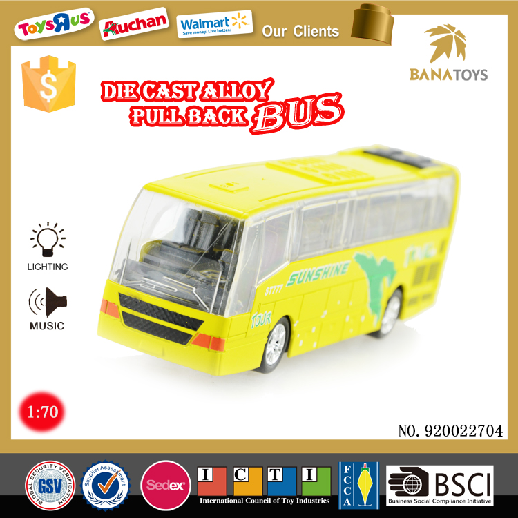New diecast bus model with light and music