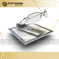 acrylic electric rotating display stand, solar energy rotatable display for eyewear