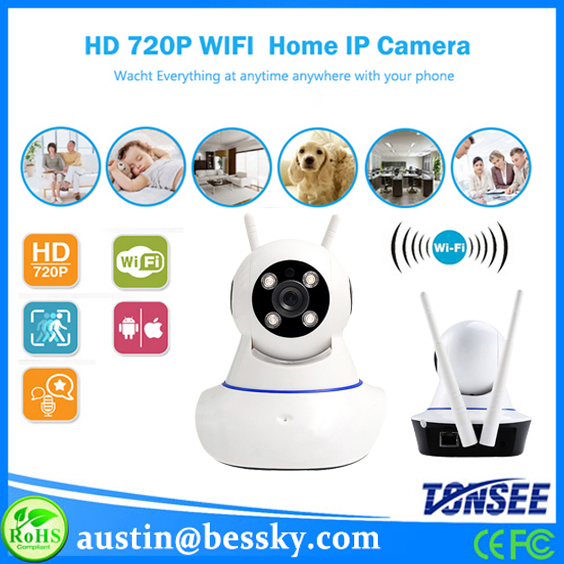 HD 720P wireless baby monitor ip wifi camera phone ios bluetooth mini cam