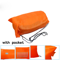 Air filling inflatable couch camping sleeping bag for outdoor