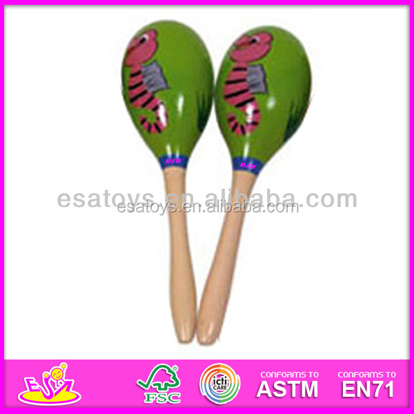 Funny baby wooden mini maracas,Music instrument mini maracas,colorful custom toy mini maracas WJ278132