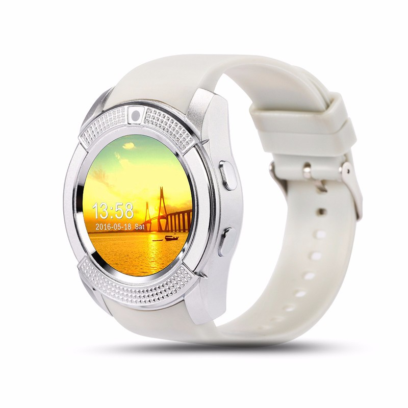 Fashion Design touch screen pedometer smart watch phone with camera sim card waterproof android watch