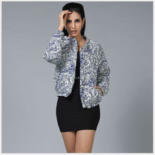 monroo wholesale elegant unique brand name printed women winter coat