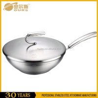 New 304 stainless steel frying pan nonstick deep fry pan