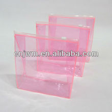 Clear plastic weld pvc bag with zipper