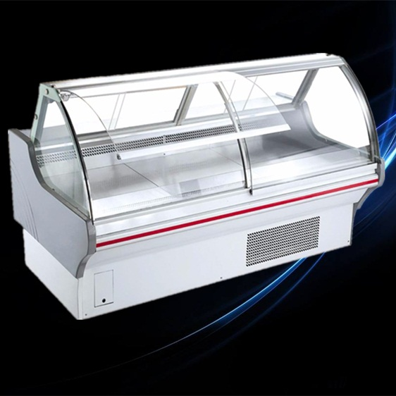 high quality open glass cooked food cooler deli fridge with CE certification