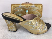 New arrival shoes and bags Italian Shoes And Matching Clutch Bag Europe size 37 to 43 Italian design shoes matching bags