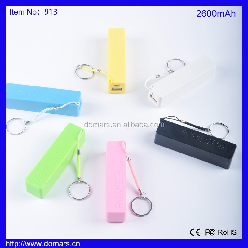 Hot Sale Promotional Customized Logo Gift 2600mAh Lipstick Power Bank for Mobile Phone