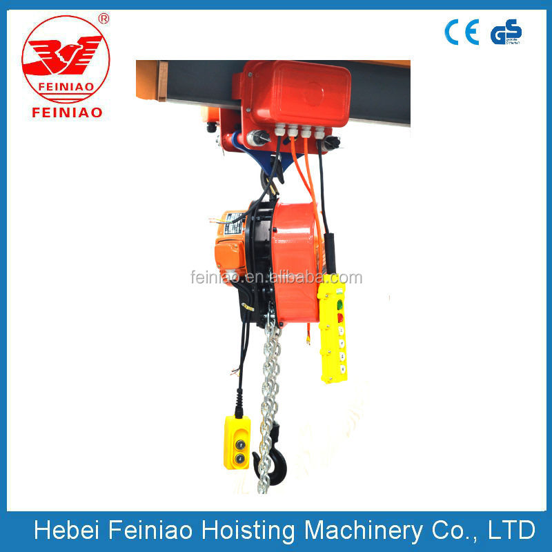 Remote Control Mini 2 Ton Electric Chain Hoist with Trolley
