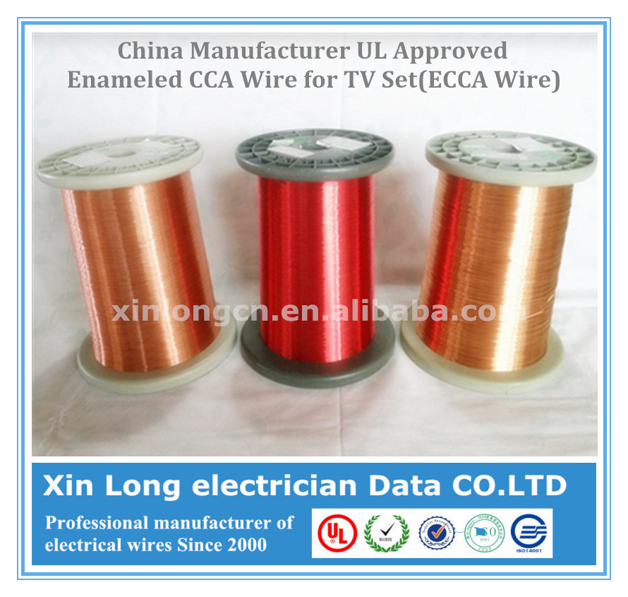 China Manufacturer UL Approved Enameled CCA Wire for TV Set(ECCA Wire)