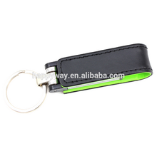 Popular Leather USB Flash Drive With Keychain, MOQ 100 PCS 0502003 One Year Quality Warranty