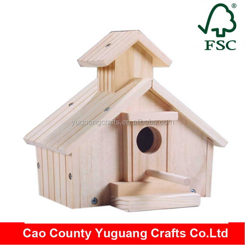 Customized design wood material bird house for sale