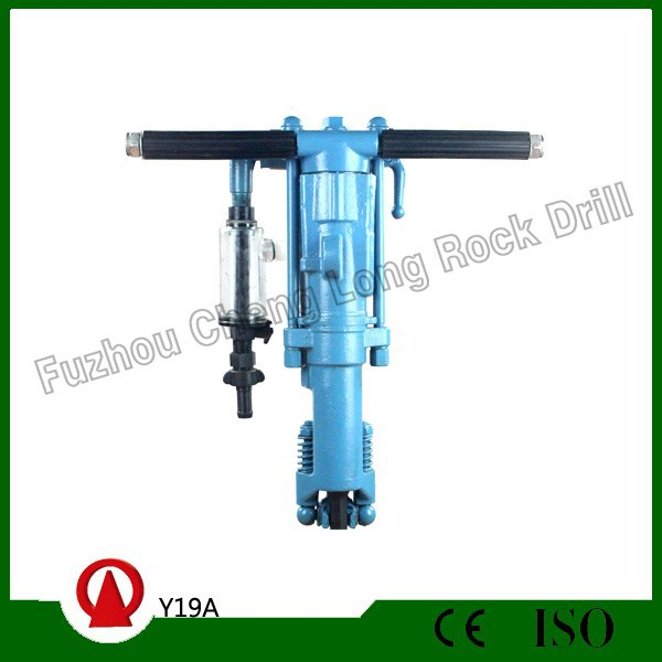 Rock Drilling with air compressor Y19A hand-held rock drills