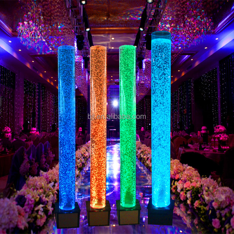 Party decoration led dance water bubble acrylic tube buy for Acrylic decoration
