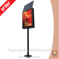security solar powered light road signs advertising sign