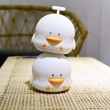 New arrivel mini animal duck shape baby night light with music