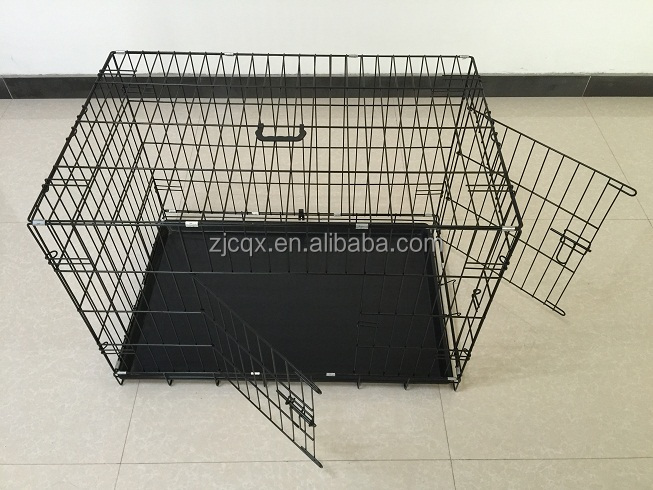 Factory supply folding metal wire pet dog cage kennel