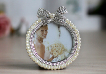Wedding frame pearl rhinestone photo frame