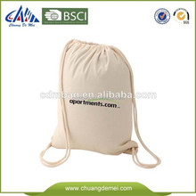 large 100 cotton drawstring canvas backpack bag