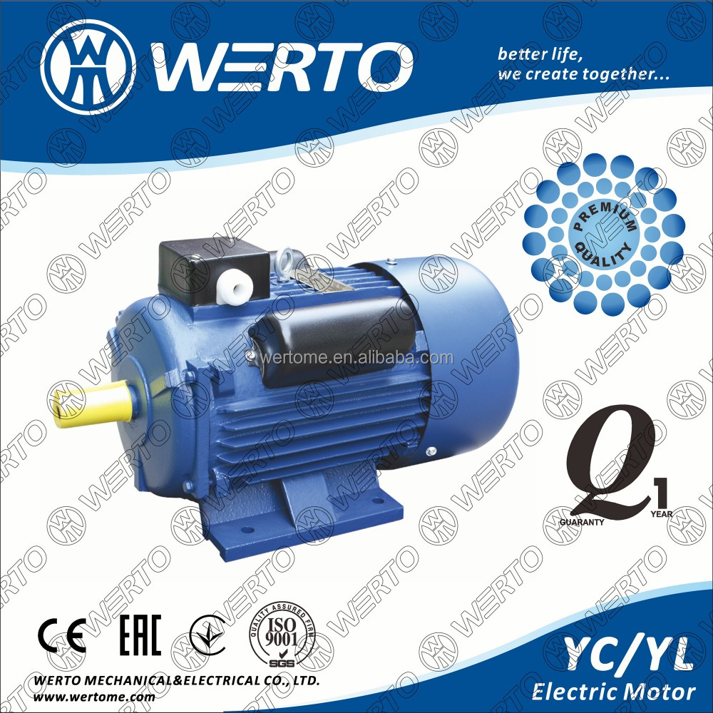 heavy duty single phase capacitor start asynchronous induction motor YC YL series