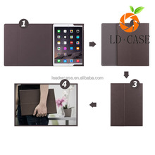 best sale cheap price genuine leather with keyboard flip cover case for IPad pro
