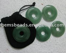 Wholesale handmade gemstone donut pendant for jewelry