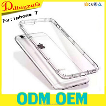 High-quality shockproof Transparent TPU clear phone case for iphone 6