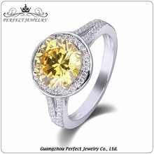 2017 Hot Sell High Quality Latest Gold Finger Ring Design Zc Stone Silver Jewelry Fashion Ring