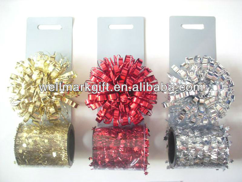 Mini Christmas Tinsel Garland Bows