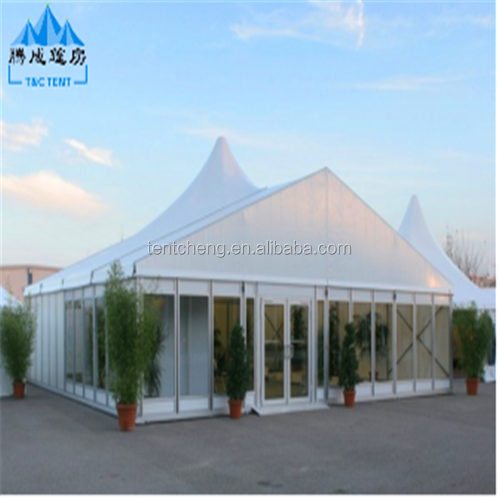 Large aluminum frame construction tent for advertizing