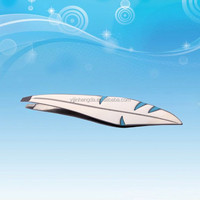 Wholesale novel design leaf shape eyebrow tweezers