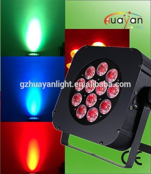 Wedding Uplight 12x10W RGBWA 5in1 Slim Flat Led Par/Mini Ip20 Indoor Used 12pcs 10w Led Par Light