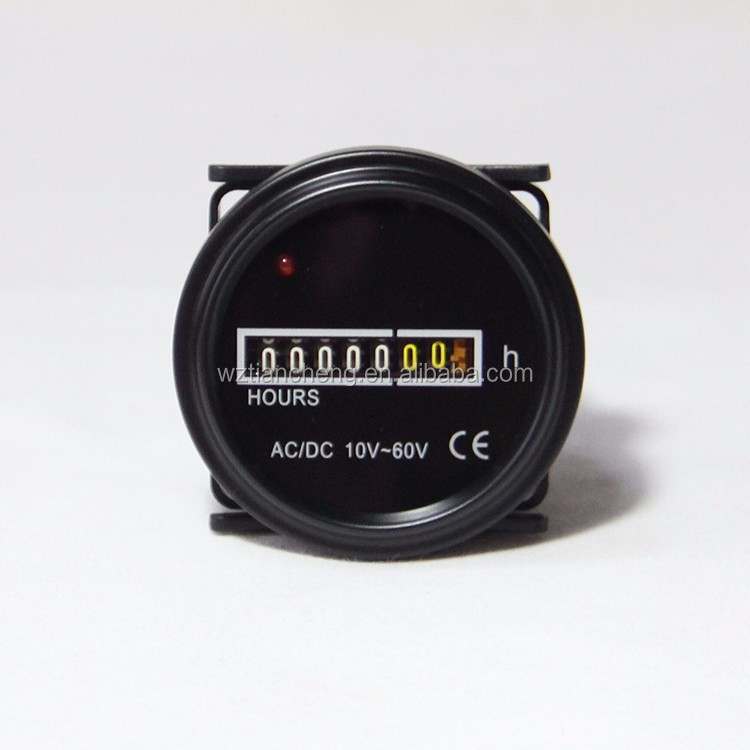 Round Hour Meter HM-4 HM-R Digital Industrial Mechanical