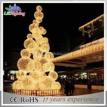 6m-30m Giant christmas LED light ball tree