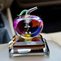 Top quality apple shaped perfume crystal bottle for car decoration