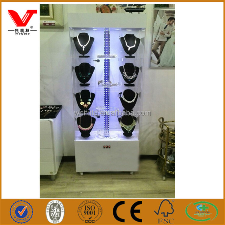 OEM fashion wood jewelry display stand/retail store wood necklace display racks