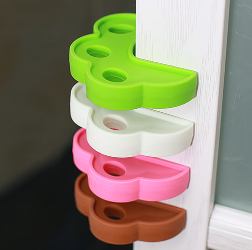 food grade material silicone door stop baby safety