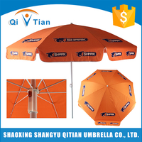 New style orange folding beach umbrella wholesale
