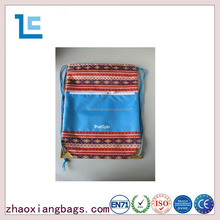 Zhaoxiang new design waterproof custom draw string bag with pocket