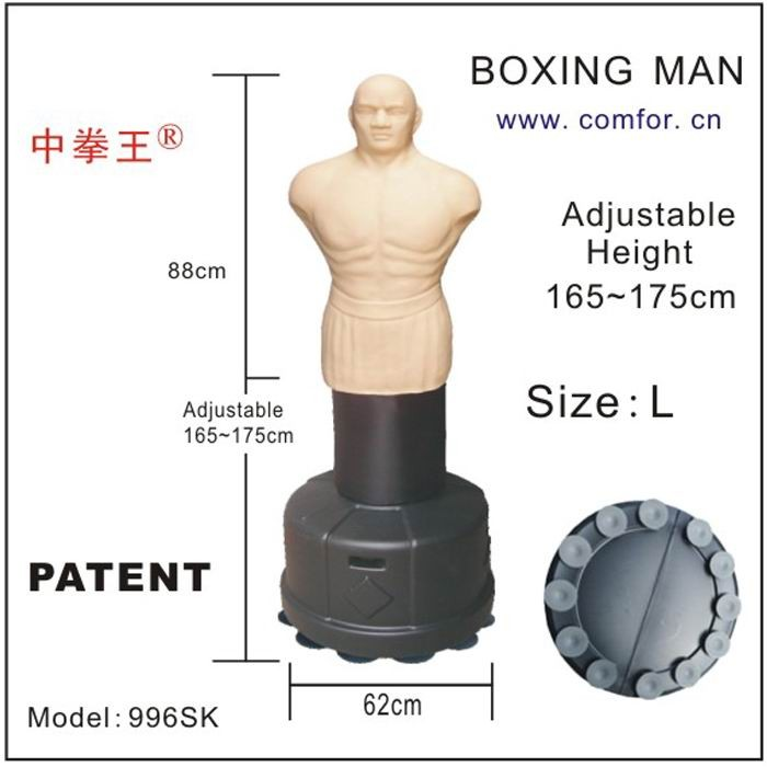Adjustable Martial arts equipment Boxing hit bag Free standing punch man