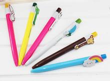 DIY creative stationery kids personalized Novelty gel pen cute cartoon animal ear tags ball point pen