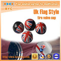 British UK Flag Style Valve Stem Cap Anti-dust and Waterproof Car Valve Cap, Customizable Country Flag Design