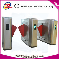Automatice & Security waist high turnstile remote control bar code reader flap barrier